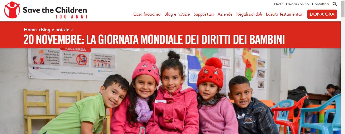 20 novembre 2020 Giornata mondiale dei diritti dei bambini e dei ragazzi